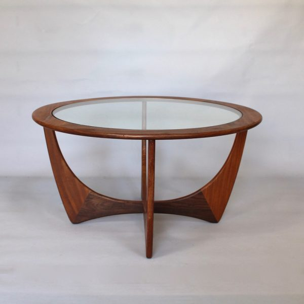 A 1960's Teak and glass circular G-Plan Astro coffee table by Victor Wilkins.