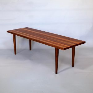 A 1960's Striped top teak coffee table