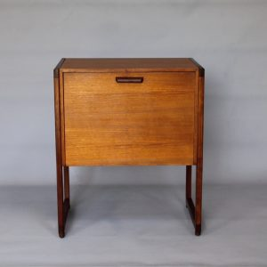 A small 1960's teak record cabinet