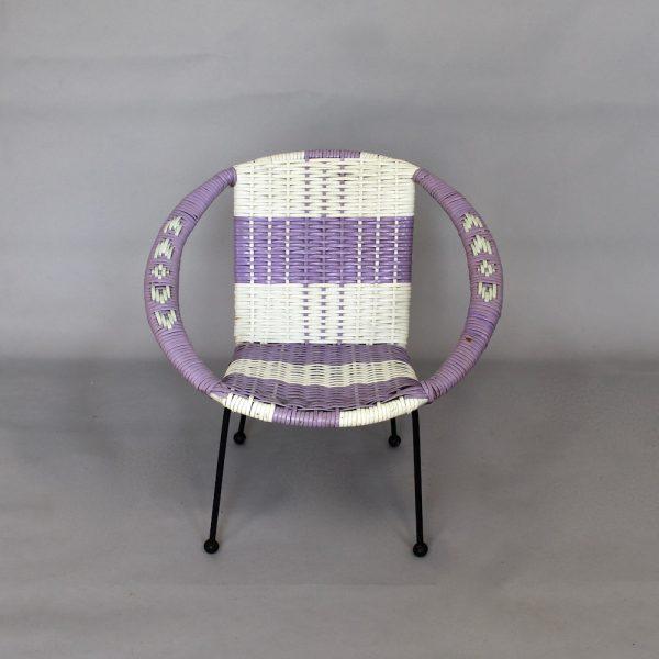 A child's 1960's plastic weave, patio/sun chair.