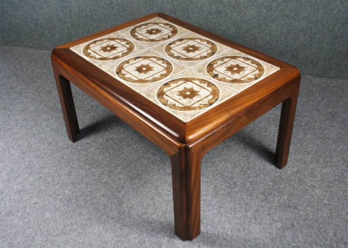 A 1960s Small Teak Tiled Top Coffee Table Elephant Amp Monkey